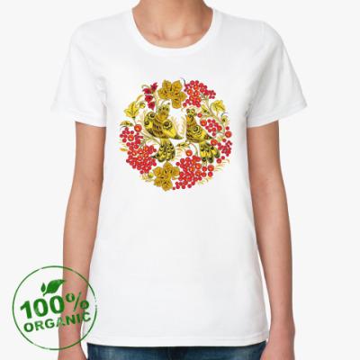Женская футболка из органик-хлопка Хохлома
