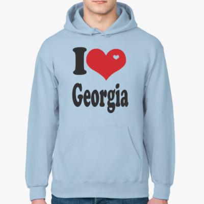 Толстовка худи I Love  Georgia