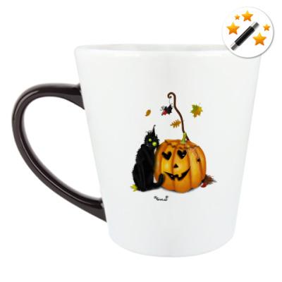 Кружка-хамелеон Happy Halloween