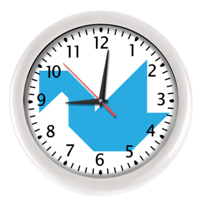 Настенные часы Kебедь танграм