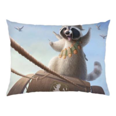 Подушка Енот-герой