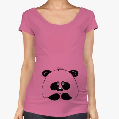 Футболка для беременных Грустная панда