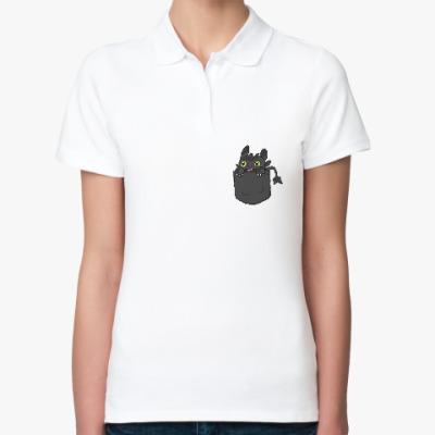 Женская рубашка поло Ночная Фурия в кармане