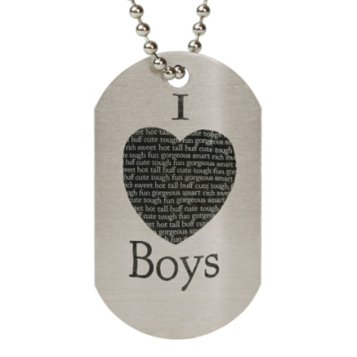 Жетон dog-tag  I Love Boys