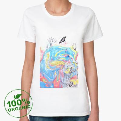 Женская футболка из органик-хлопка Прорастание