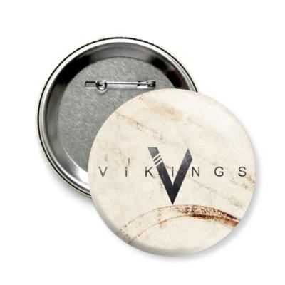 Значок 58мм Vikings