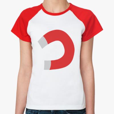 Женская футболка реглан Тянет, как магнитом