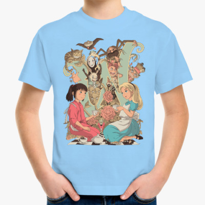 Детская футболка Wonderland Alice and Chihiro