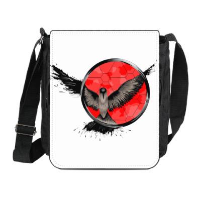 Сумка на плечо (мини-планшет) сова ловец снов