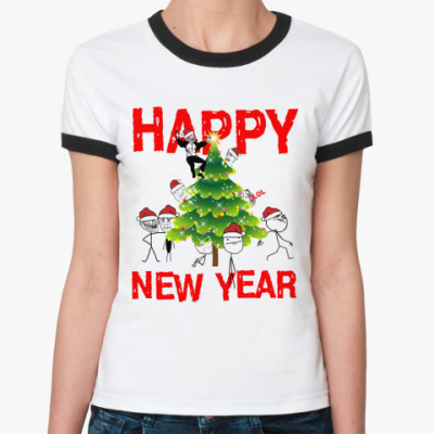 Женская футболка Ringer-T Meme-Party