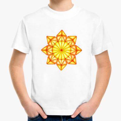 Детская футболка Мозаичное солнце