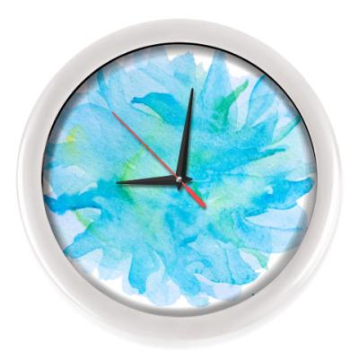 Настенные часы Мягкая абстрактная акварель