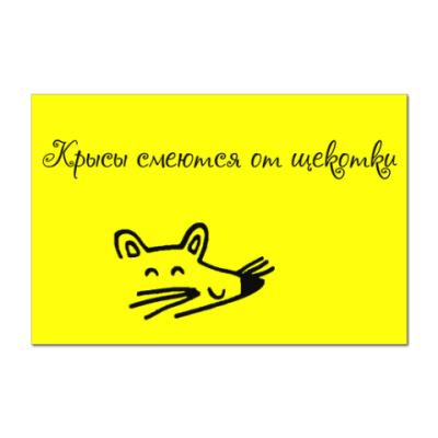 Наклейка (стикер) Крысы смеются от шекотки