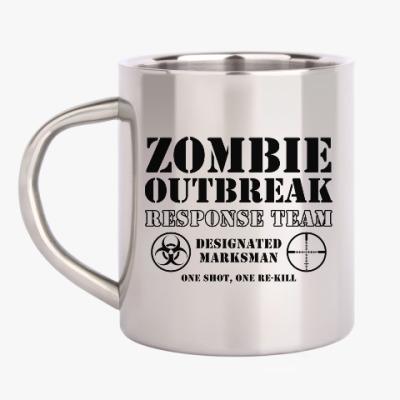 Кружка металлическая Зомби апокалипсис. Отряд быстр