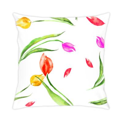 Подушка Сны с тюльпанами