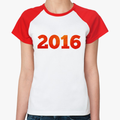 Женская футболка реглан Год Огненной Обезьяны 2016