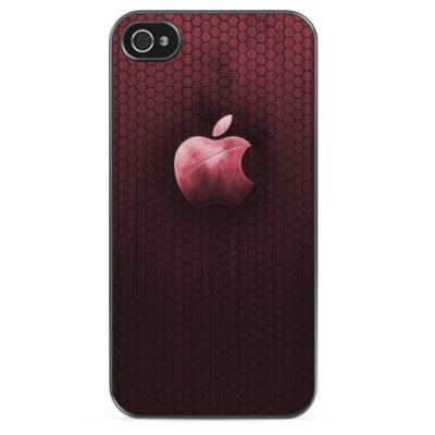 Чехол для iPhone Темно-красный металлик Apple