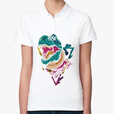 Женская рубашка поло Динозавр