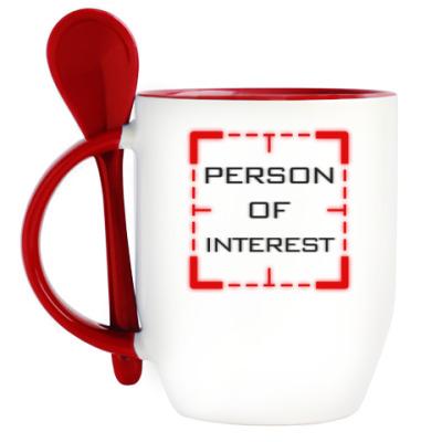 Кружка с ложкой Person of Interest