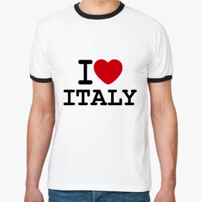 Футболка Ringer-T   I Love Italy