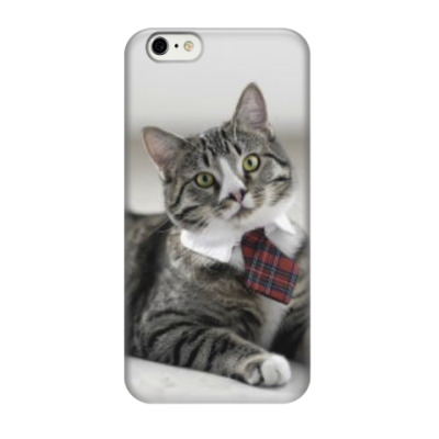 Чехол для iPhone 6/6s Кот в галстуке