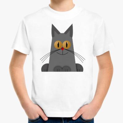 Детская футболка Желтоглазый котик