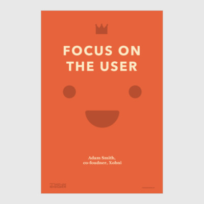 Постер Focus on the user