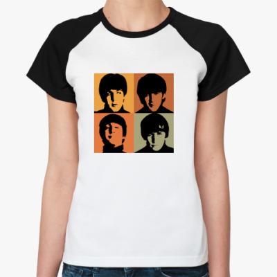 Женская футболка реглан  Fab Four