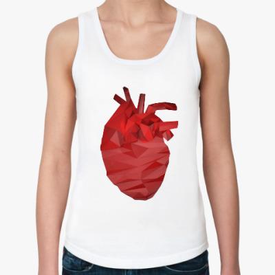 Женская майка Сердце 3D