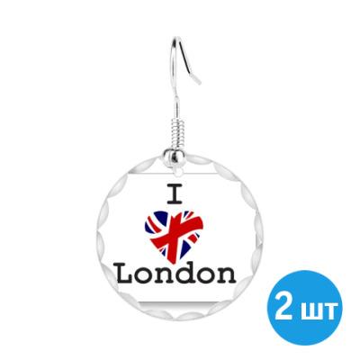 Серьги I LOVE LONDON