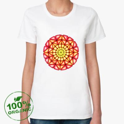 Женская футболка из органик-хлопка Калейдоскоп Июль