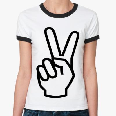 Женская футболка Ringer-T виктори