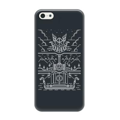 Чехол для iPhone 5/5s Викинги и Один