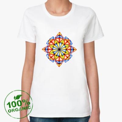 Женская футболка из органик-хлопка Калейдоскоп Май