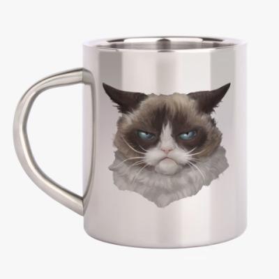 Кружка металлическая Grumpy Cat / Сердитый Кот