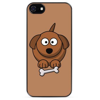 Чехол для iPhone Собачка с косточкой