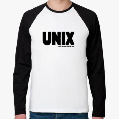 Футболка реглан с длинным рукавом Unix