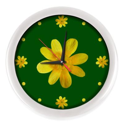 Настенные часы Цветочный циферблат