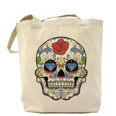Сумка Холщовая сумка Skull many