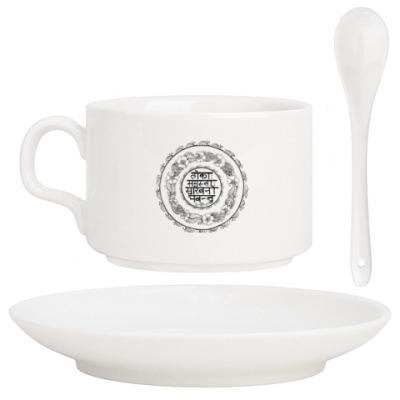 Кофейный набор Мандала - Мантра - Lokāḥ samastāḥ sukhino bhavantu
