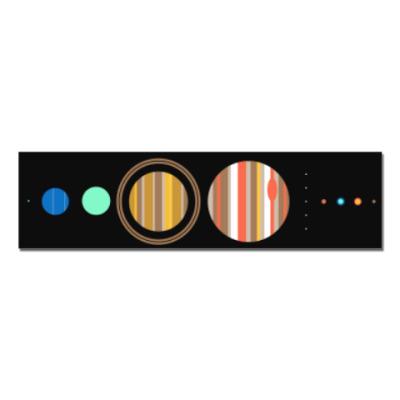 Наклейка (стикер) Солнечная система минимализм