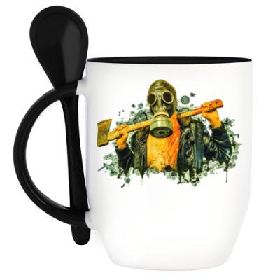 Кружка с ложкой Zombie Killer