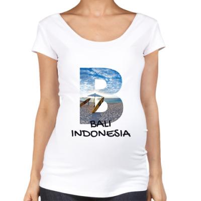 Футболка для беременных Океан, Бали, Индонезия