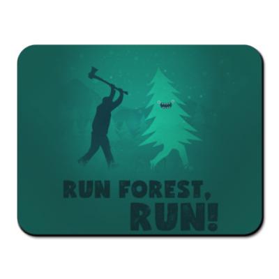 Коврик для мыши Run forest run! New Year