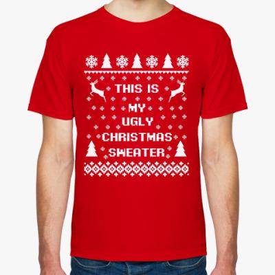Футболка Страшный новогодний свитер