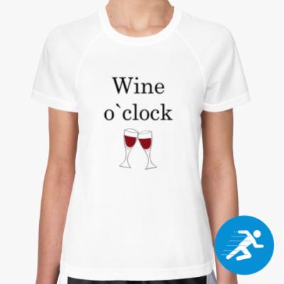 Женская спортивная футболка Wine O`clock