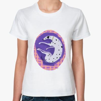 Классическая футболка Спящий далматин