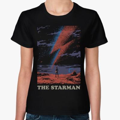Женская футболка David Bowie Starman Дэвид Боуи