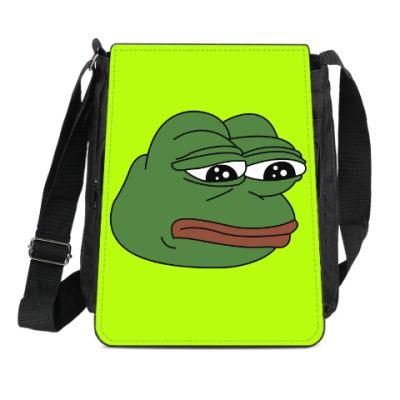 Сумка-планшет Грустная лягушка