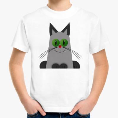 Детская футболка Зеленоглазый котик